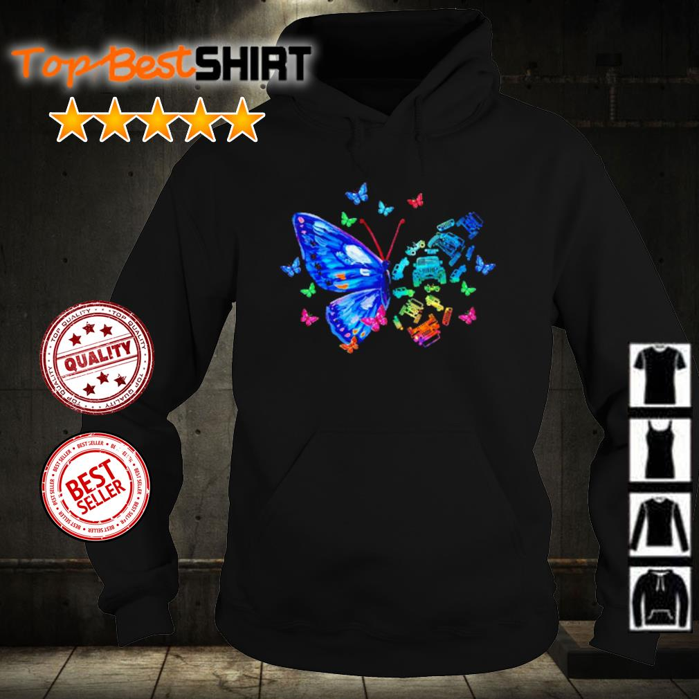 Jeep faith butterfly s hoodie