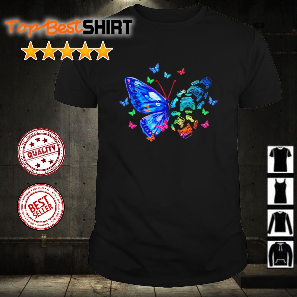 Jeep faith butterfly shirt