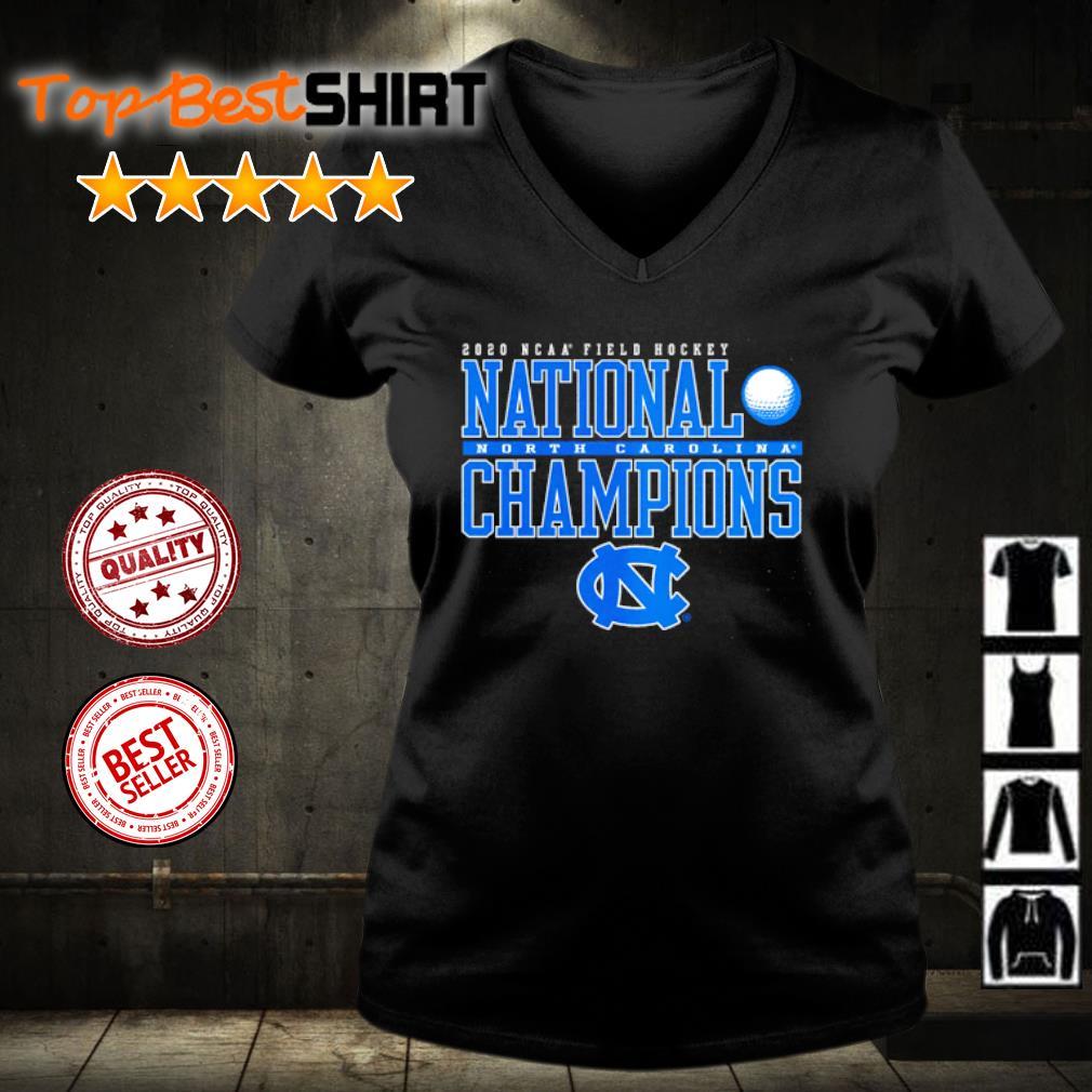 North Carolina Tar Heels 2020 NCAA Women's Field Hockey National Champions s v-neck-t-shirt