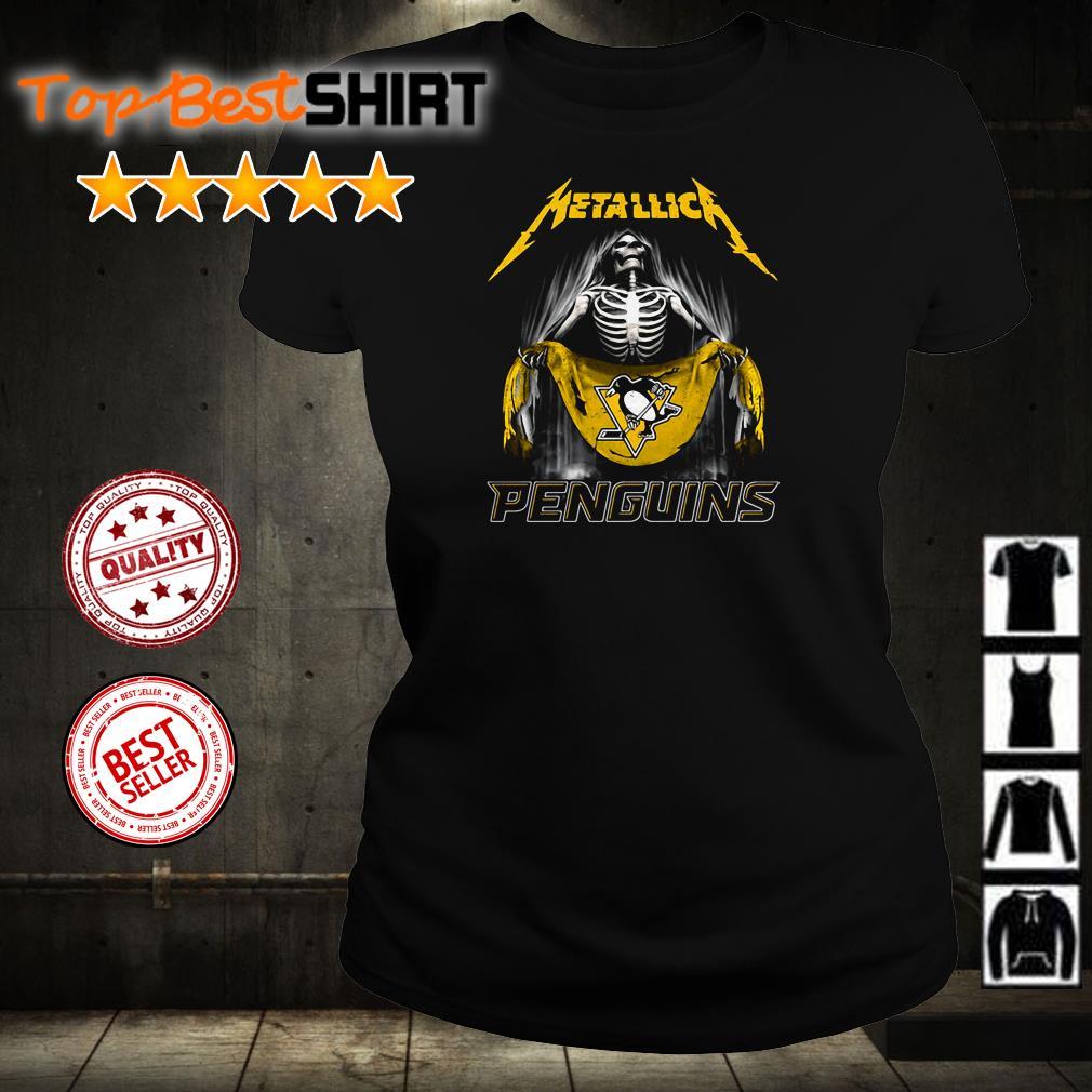 Skeleton Metallica Penguins shirt