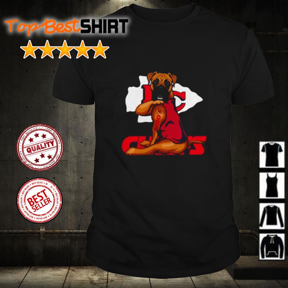 Tattoos Pitbull love Kansas City Chiefs shirt