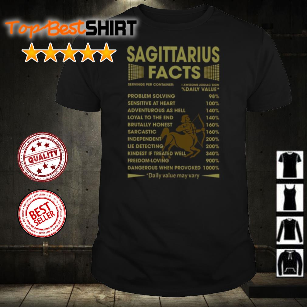 Sagittarius facts problem solving sensitive at heart shirt