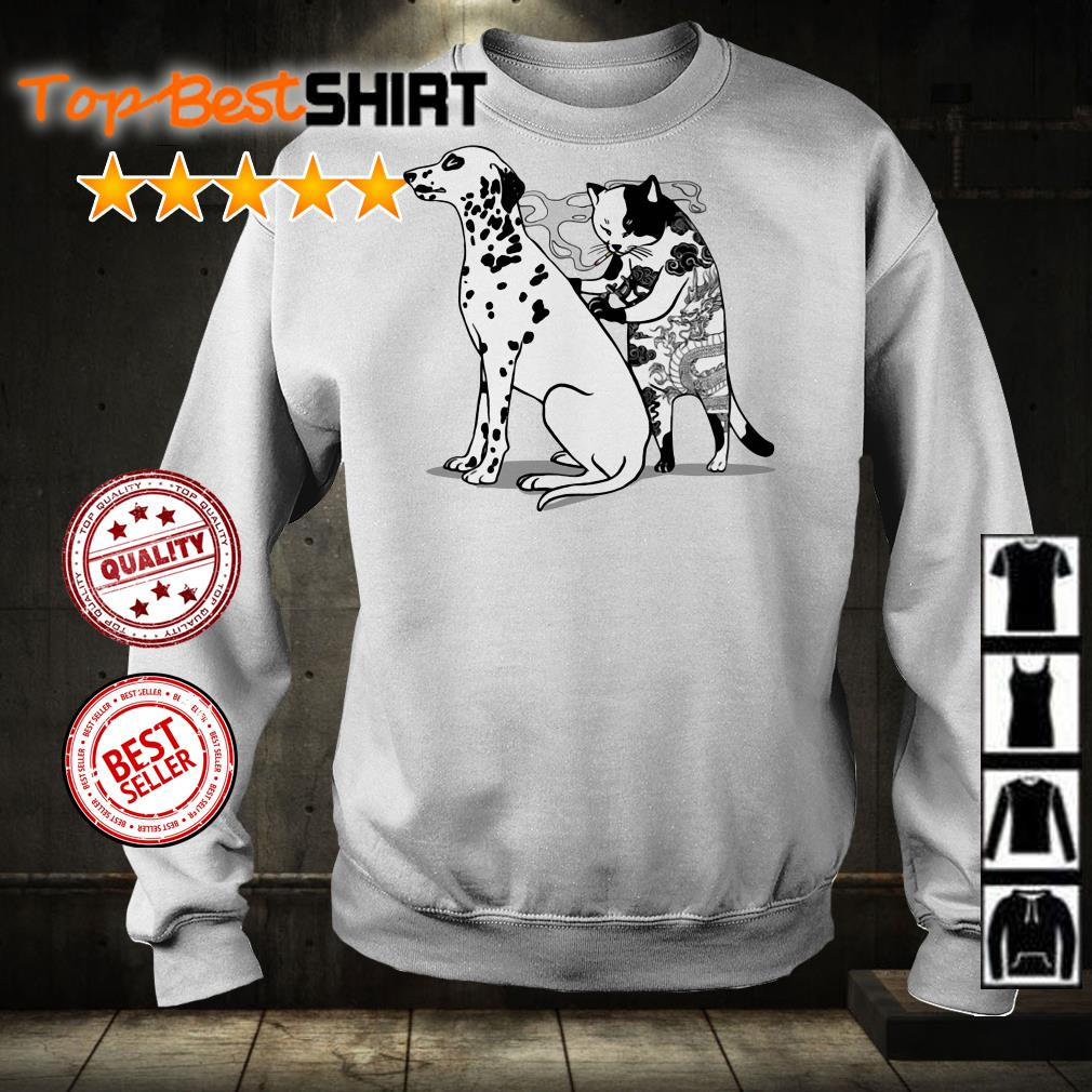 Cat and Dog tattoo shirt from Nicefrogtees