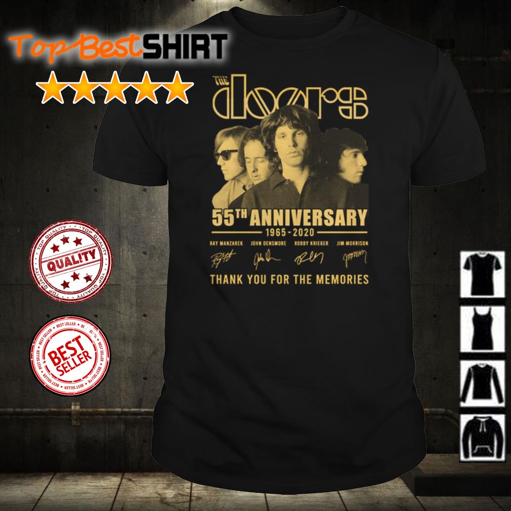 The Doors 55th anniversary thank you for the memories shirt
