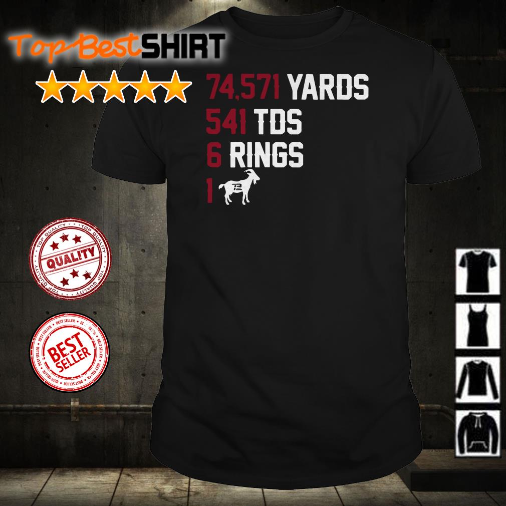74571 yards 541 TDS 6 Rings 1 Goat shirt