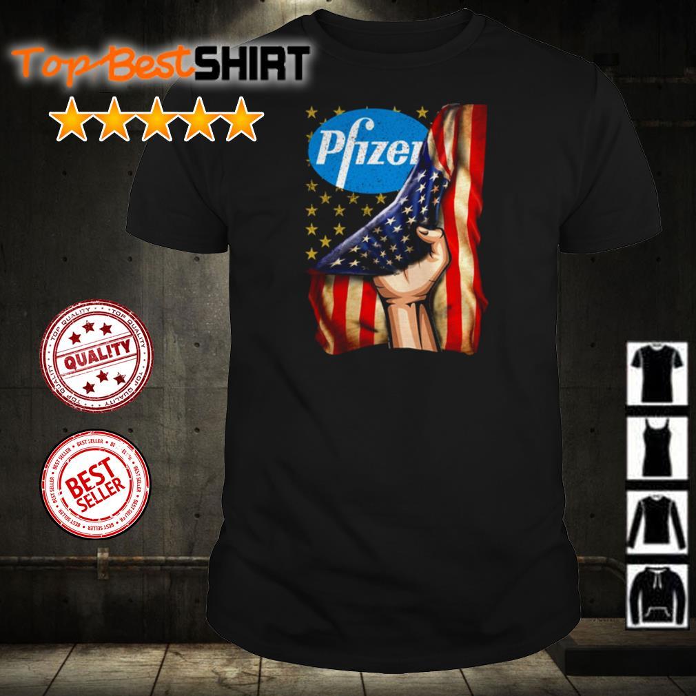 Pfizer America Flag shirt