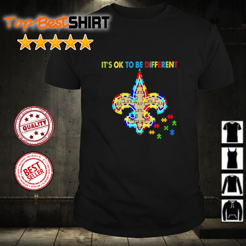 Autism Awareness it's ok to be different shirt
