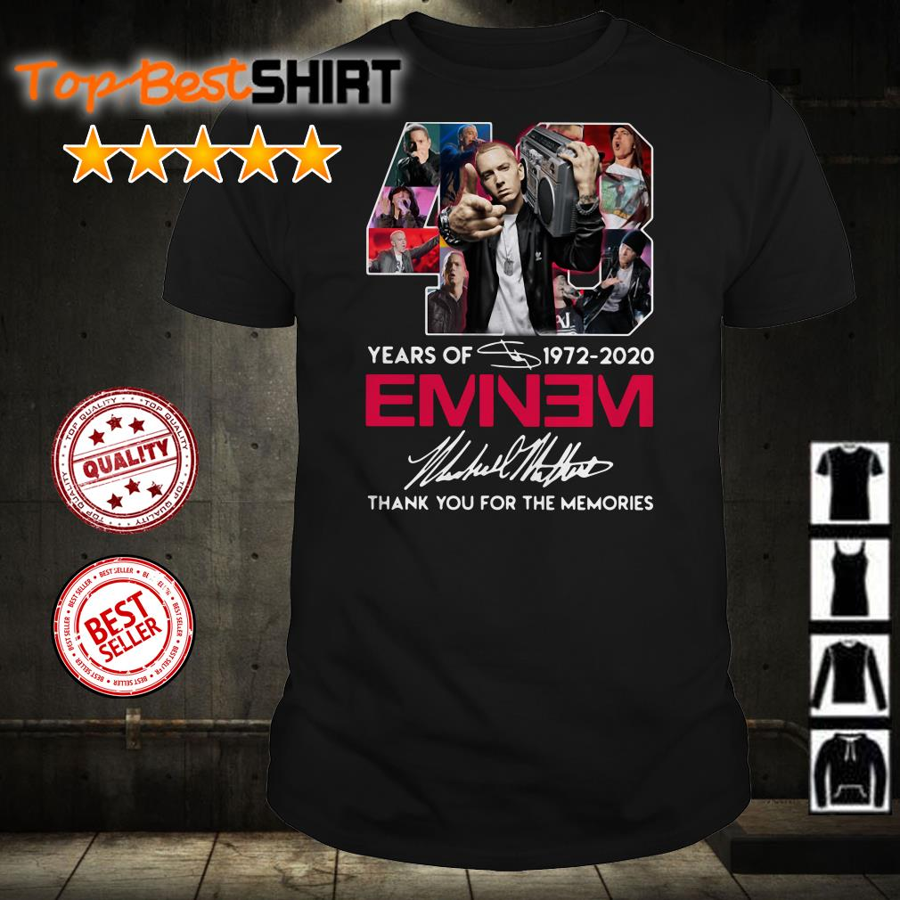 40 years of Eminem 1972 2020 thank you for the memories signatures shirt