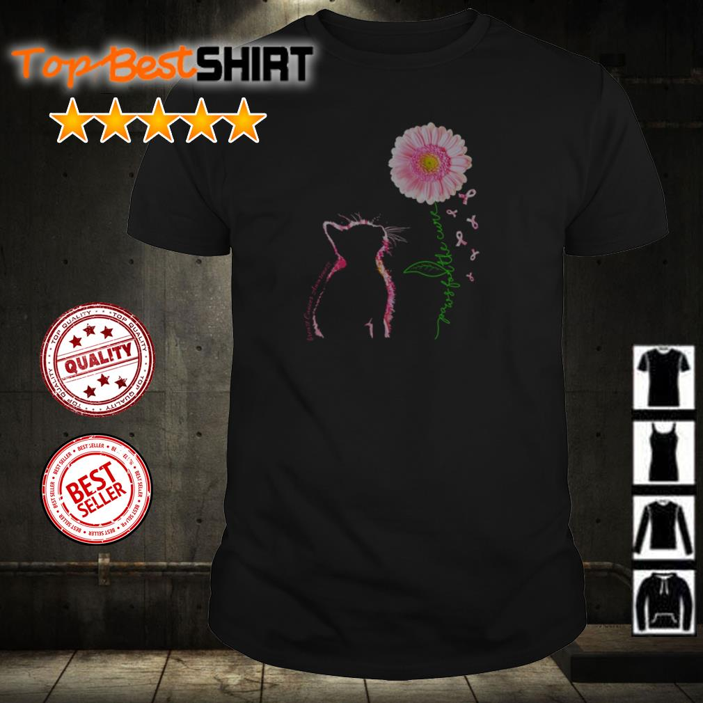 Cat paws for the cure shirt