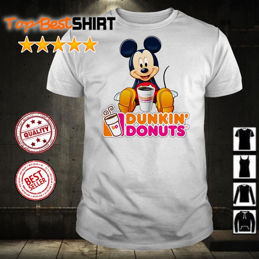 Mickey Mouse love Dunkin' Donuts shirt