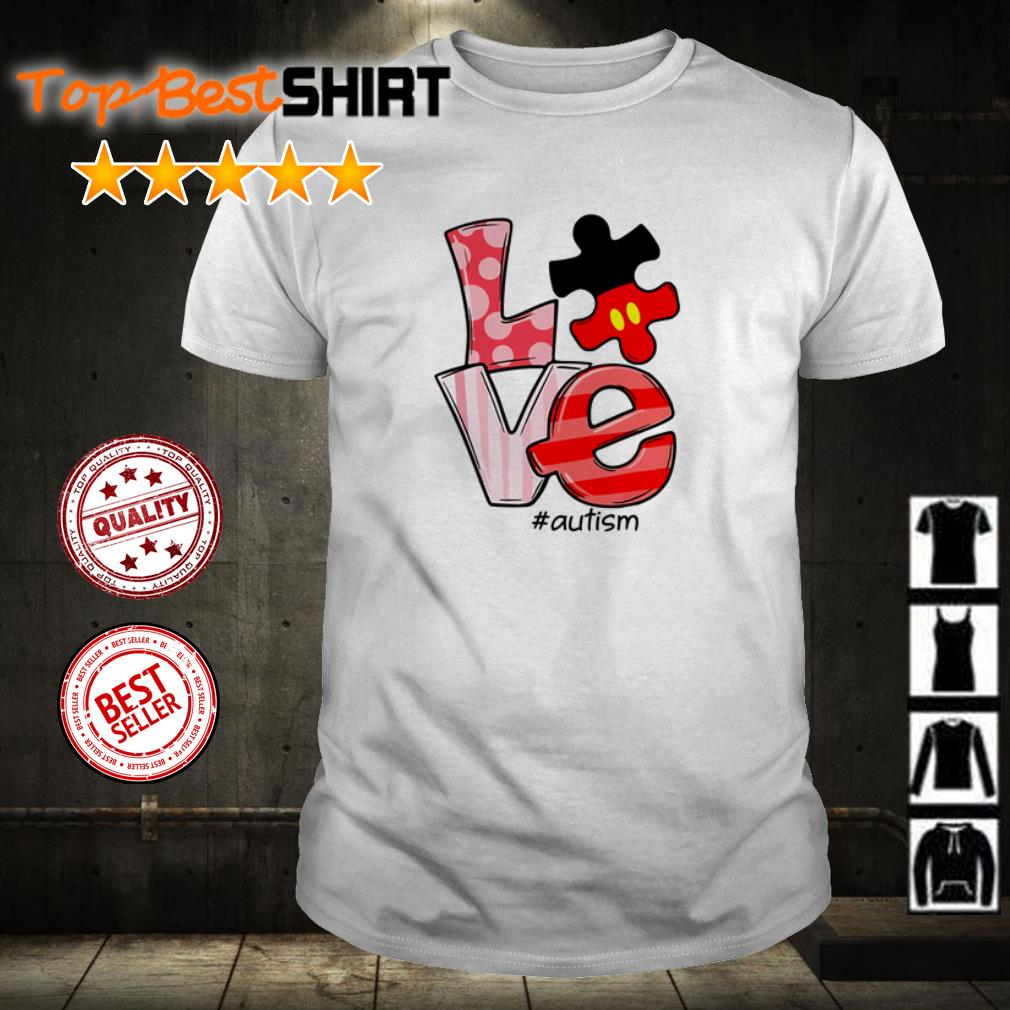Disney Mickey Mouse Love Autism shirt