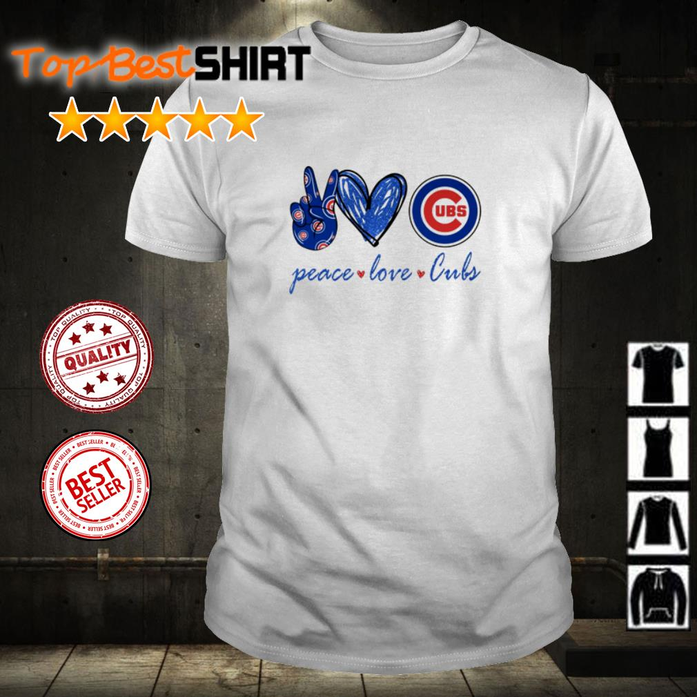 Peace love and Chicago Cubs shirt