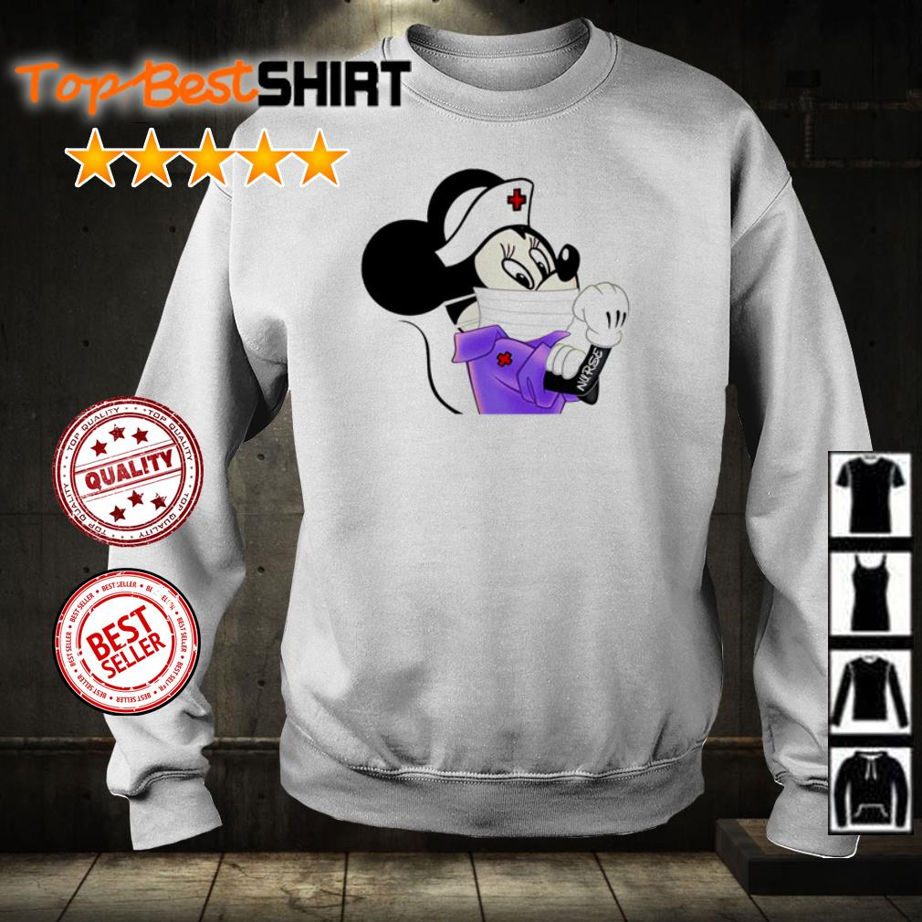 Minnie the nurse wearing mask shirt