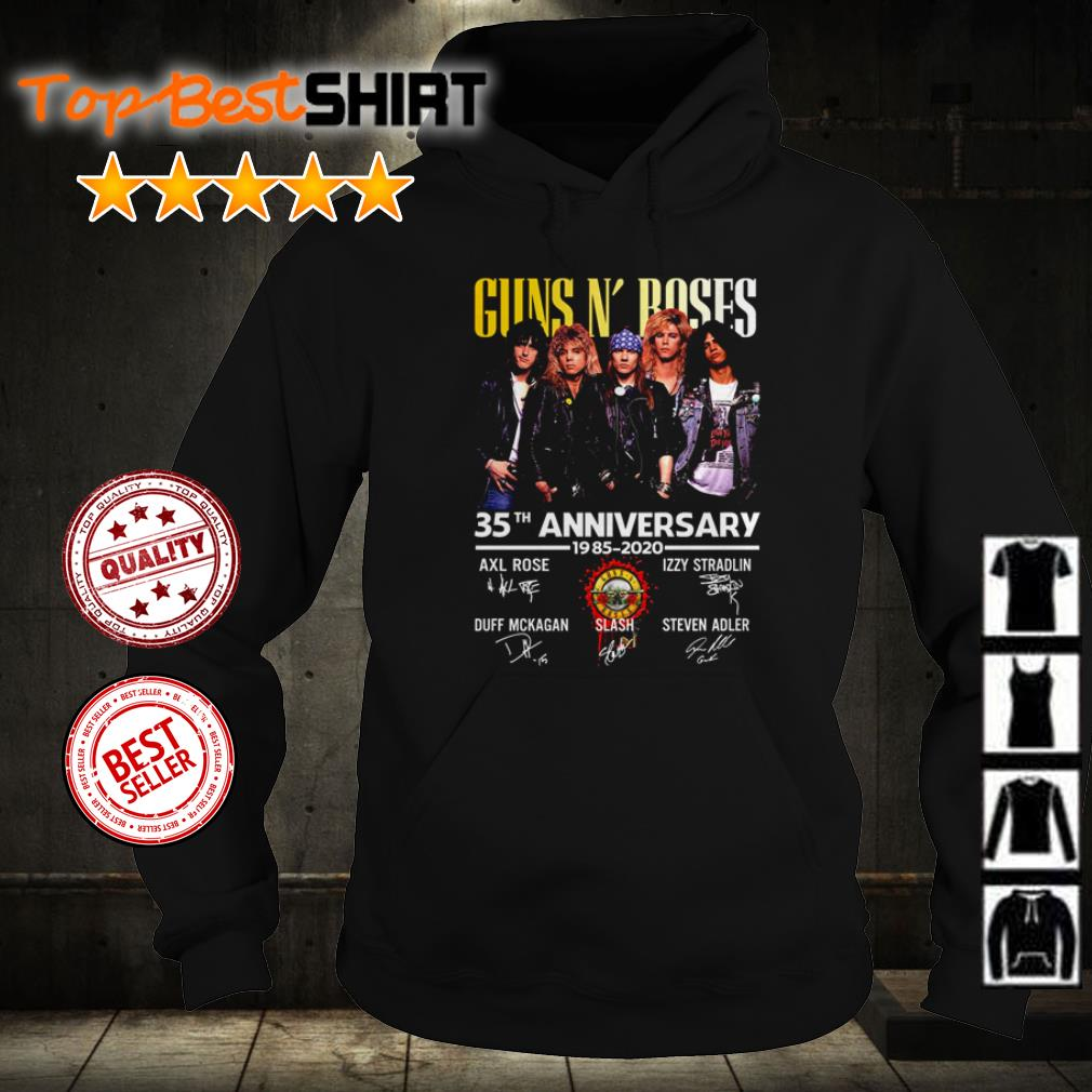 Guns N' Roses 35th anniversary signatures shirt