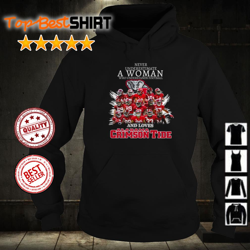 Never underestimate who understands football and loves Alabama Crimson Tide shirt
