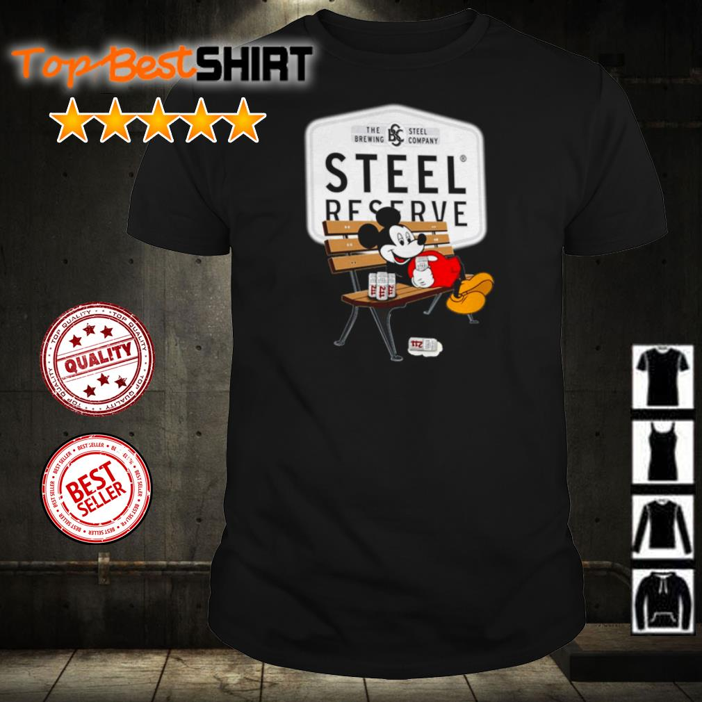 Mickey Mouse drink Steel Reserve shirt