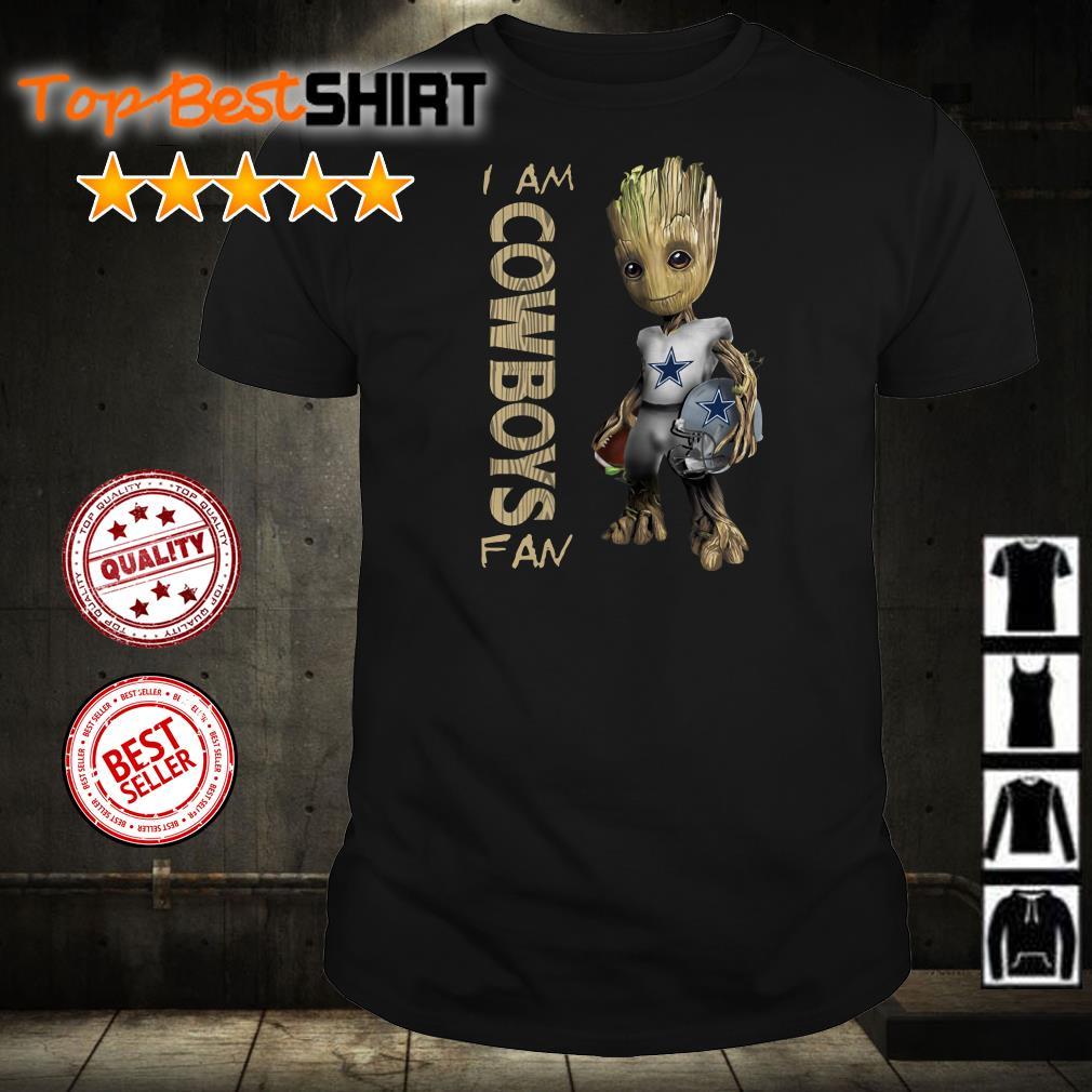 Baby Groot I am Dallas Cowboys Fan shirt