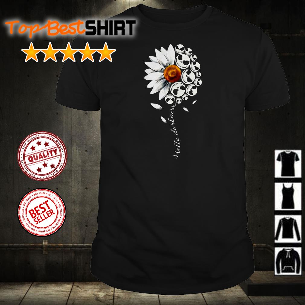 Jack Skellington sunflower hello darkness shirt
