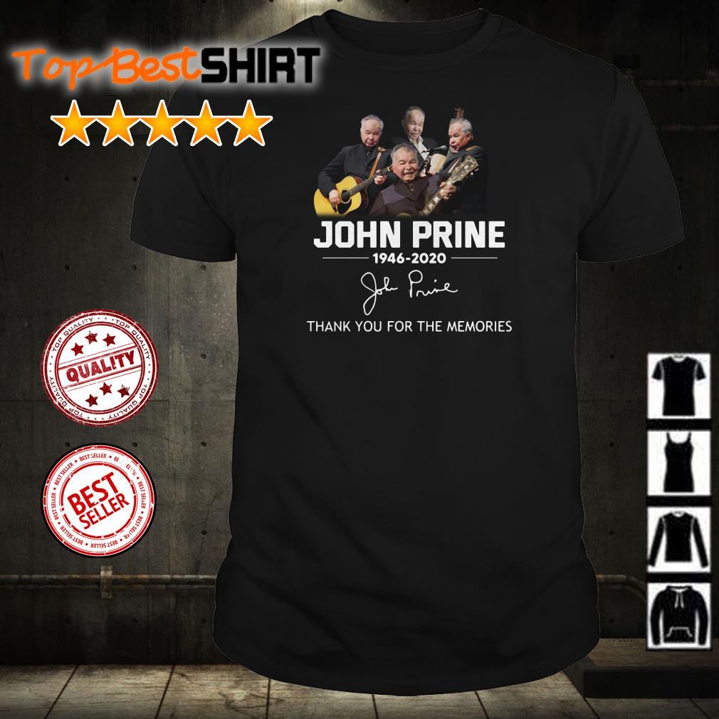 John Prine 1946 2020 thank you for the memories signature shirt