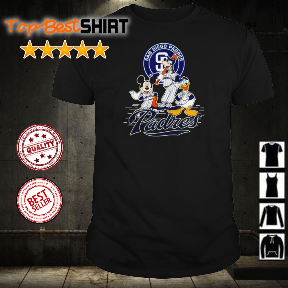 Mickey Mouse Goofy and Donald Duck San Diego Padres shirt