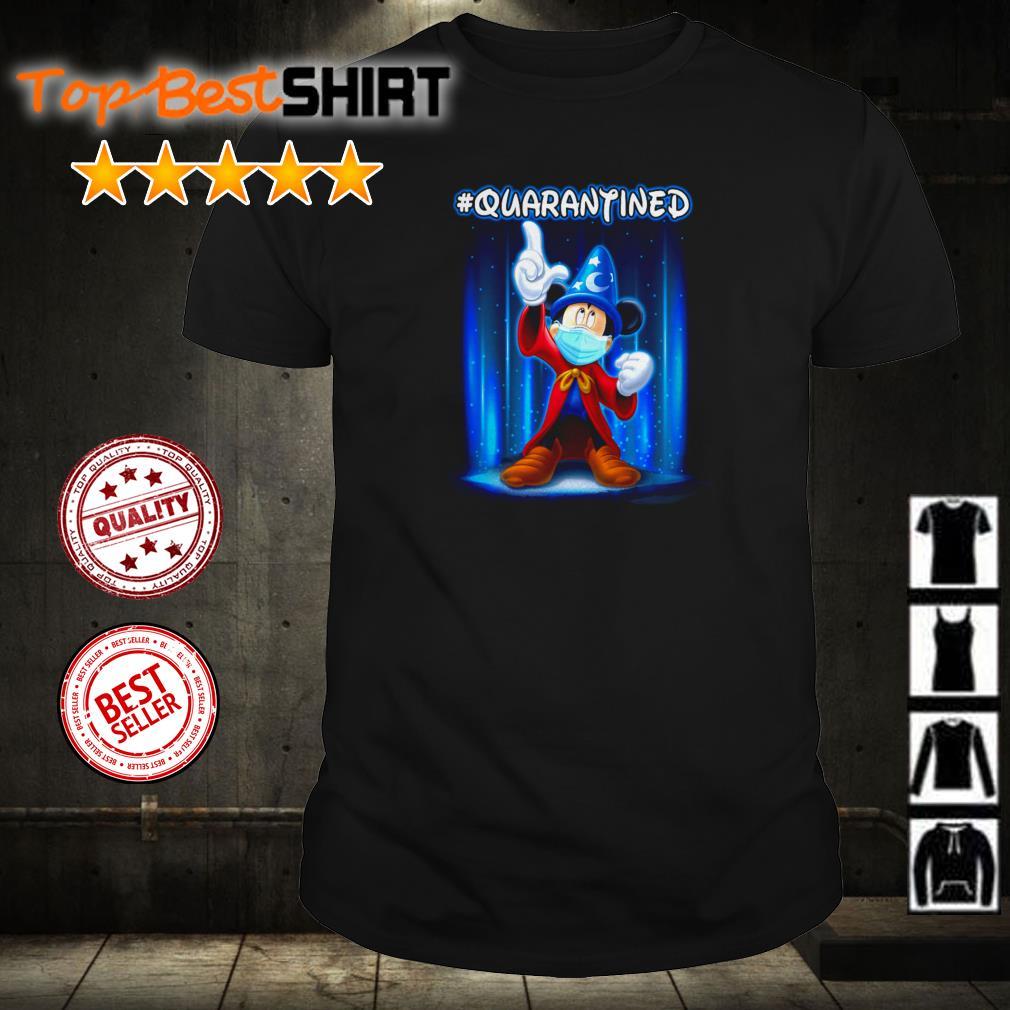 Wizard Mickey Mouse wearing mask #quarantined shirt