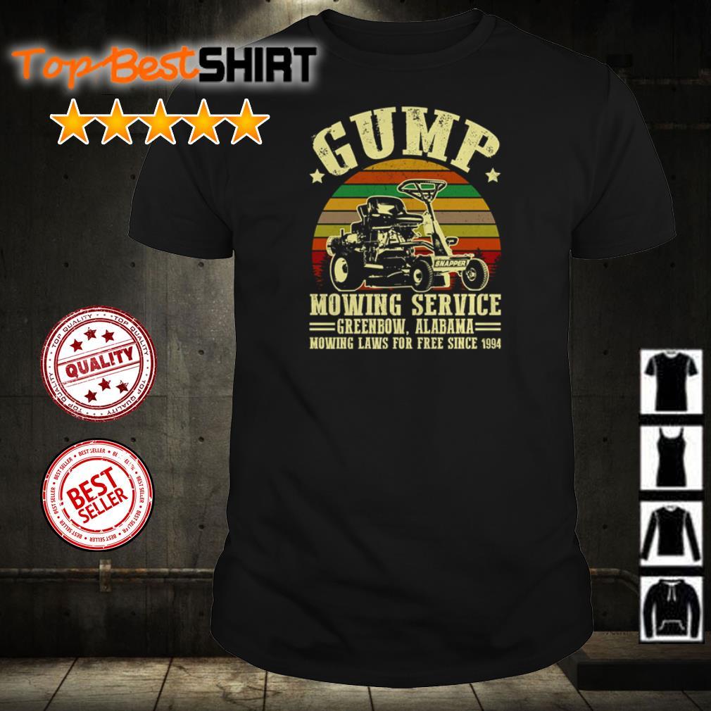 Gump mowing service Greenbow Alabama shirt