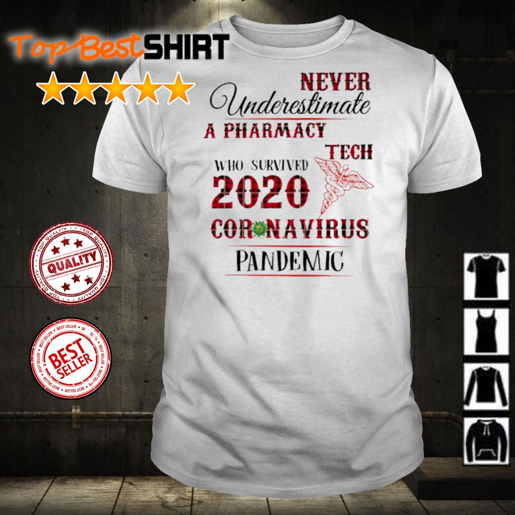 Never underestimate a Pharmacy Tech who survived 2020 coronavirus pandemic shirt
