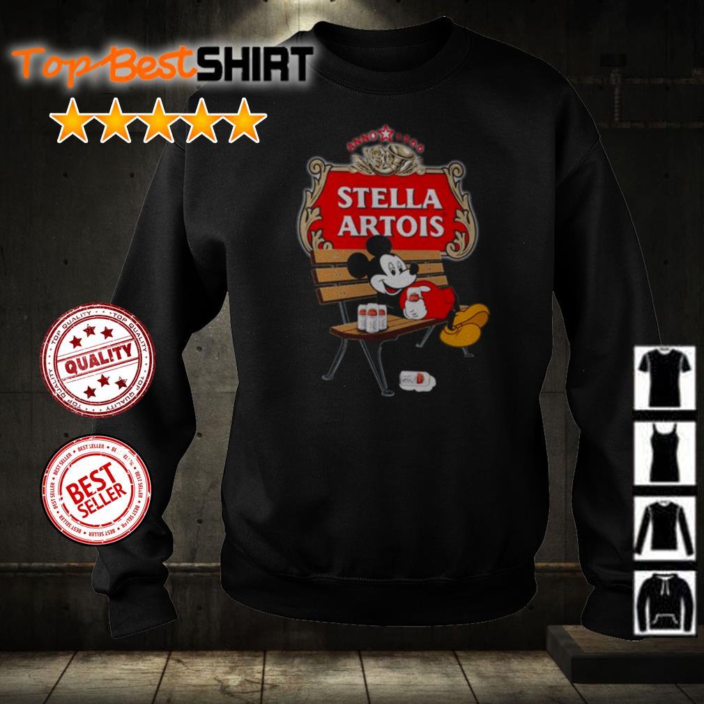 Mickey Mouse drink Stella Artois shirt