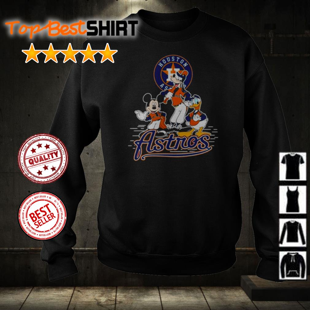 Mickey Mouse Goofy and Donald Duck Houston Astros shirt