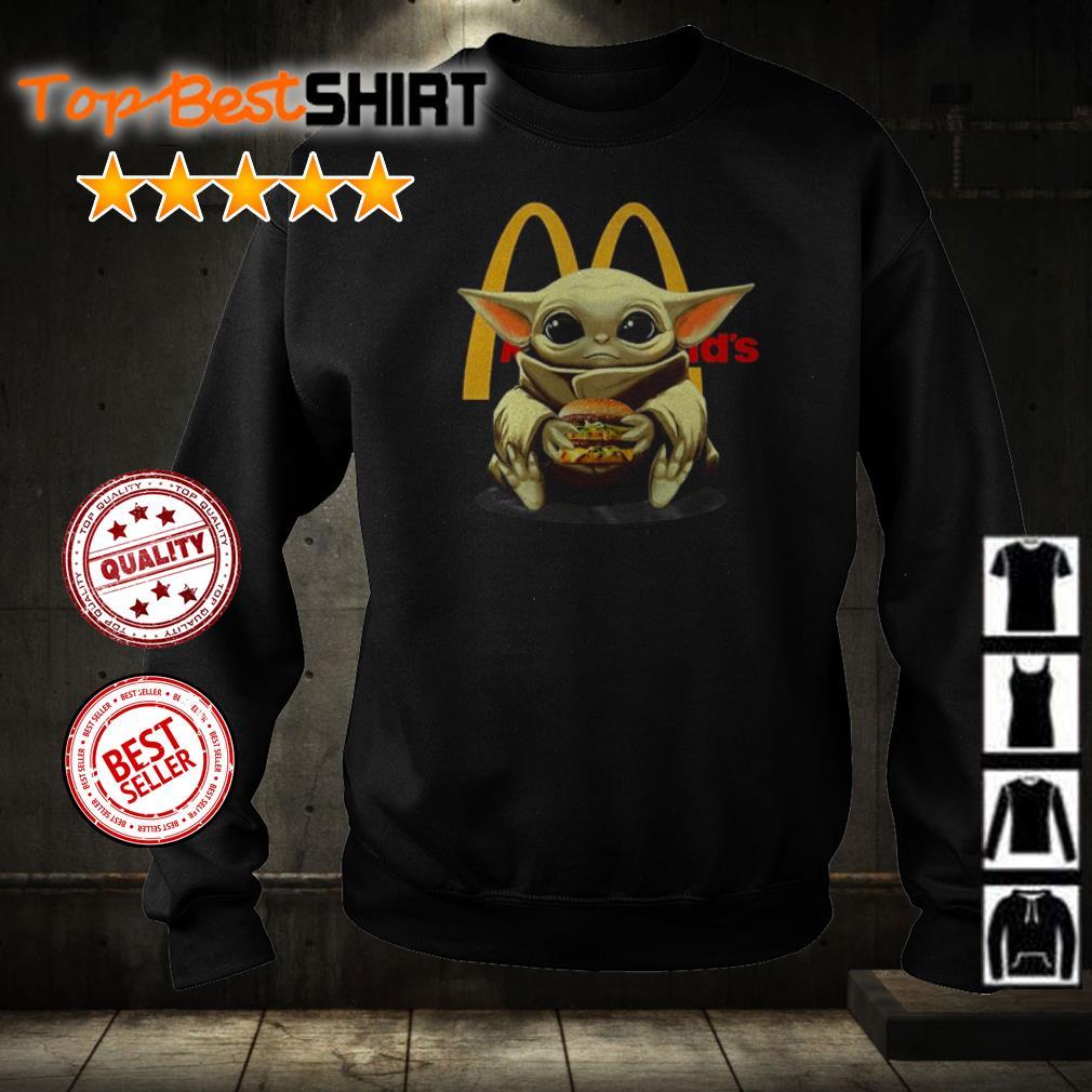 Baby Yoda hug hamburger McDonald shirt