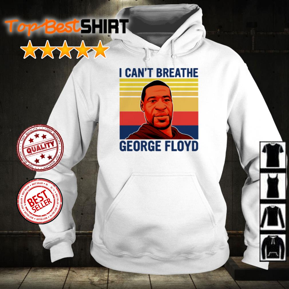 George Floyd I can't breathe vintage shirt