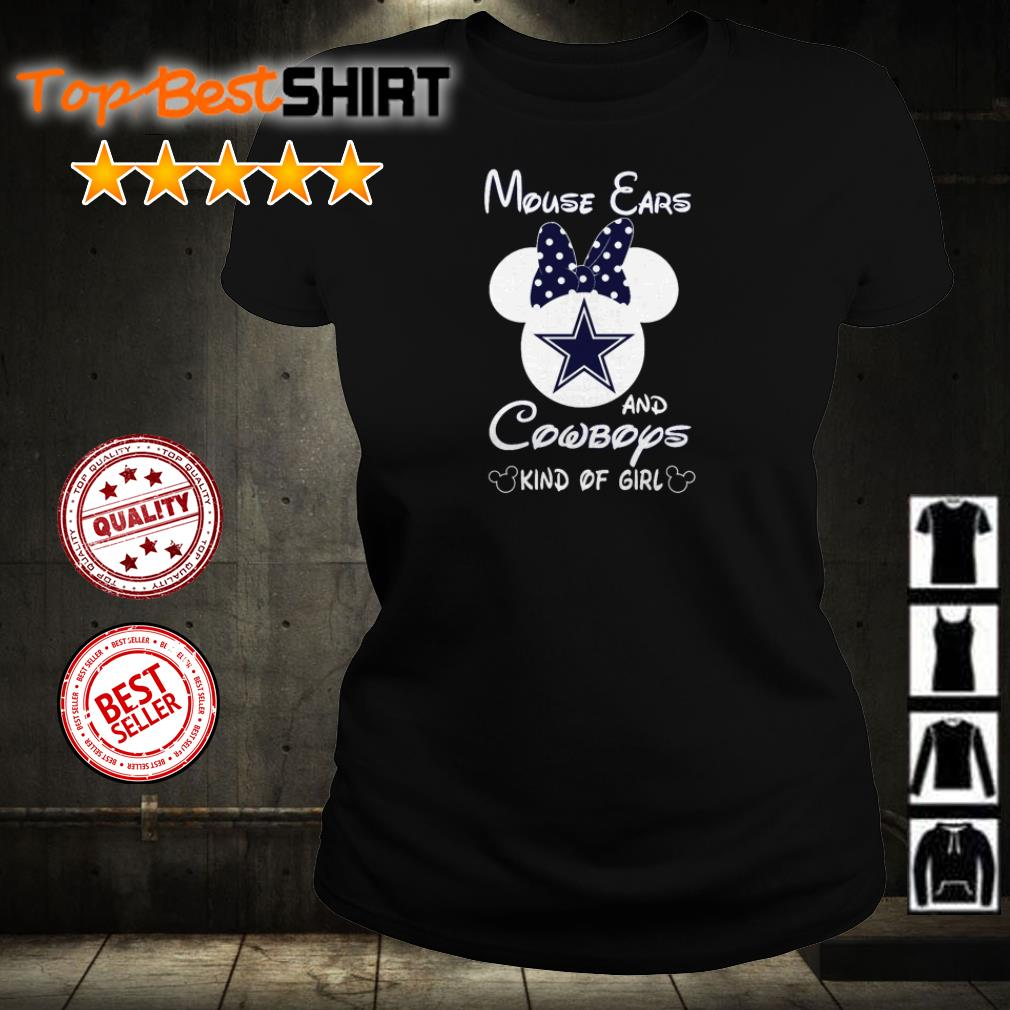 Mouse ears and Dallas Cowboys kind of girl shirt