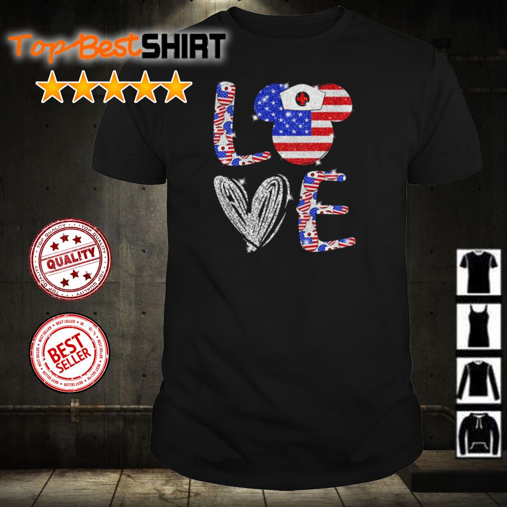 Love independence day Mickey Mouse shirt