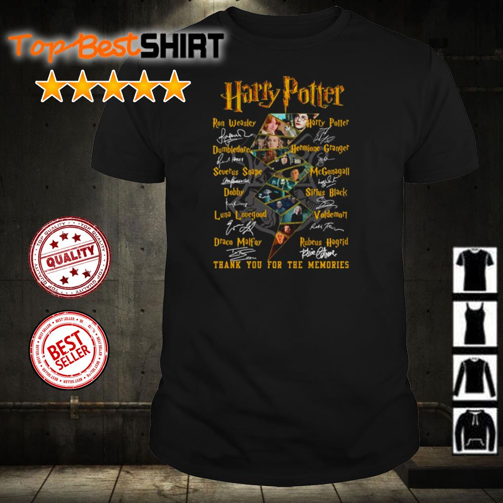 Harry Potter thank you for the memories signatures shirt