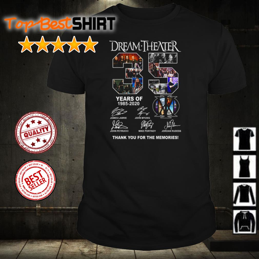 35 years of Dream Theater thank you for the memories shirt