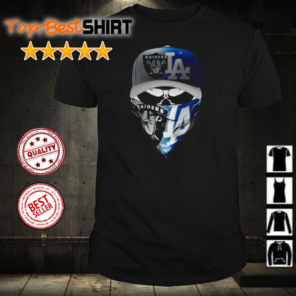 Skull Oakland Raiders vs Los Angeles Dodgers shirt