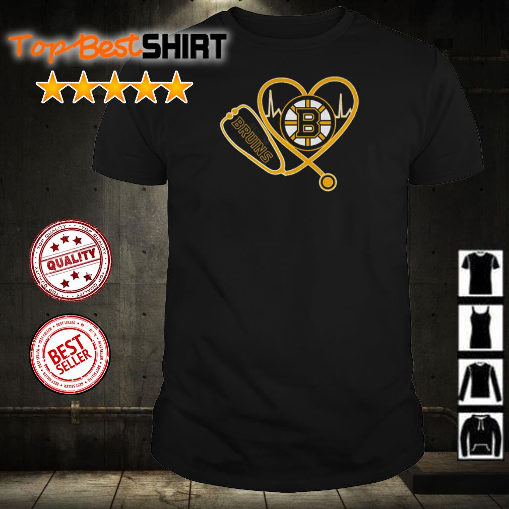 Nurse heartbeat Boston Bruins shirt