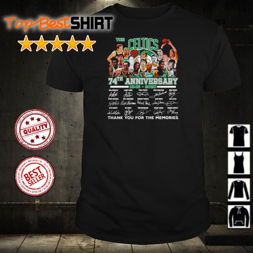 The Boston Celtics 74th anniversary thank you for the memories shirt