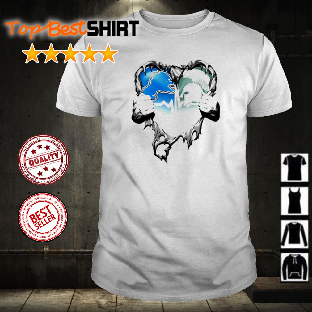 Michigan State Spartans heart ripped shirt