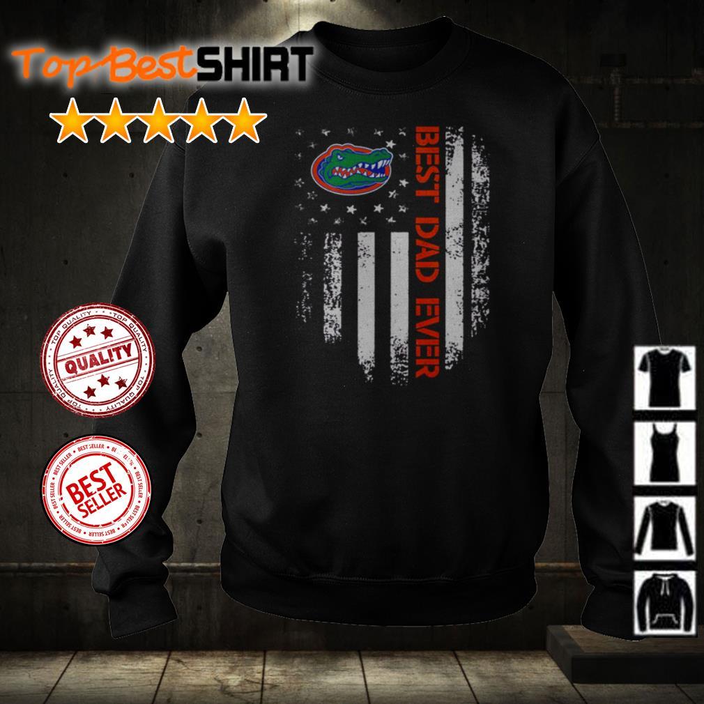 Florida Gators best dad ever America Flag shirt