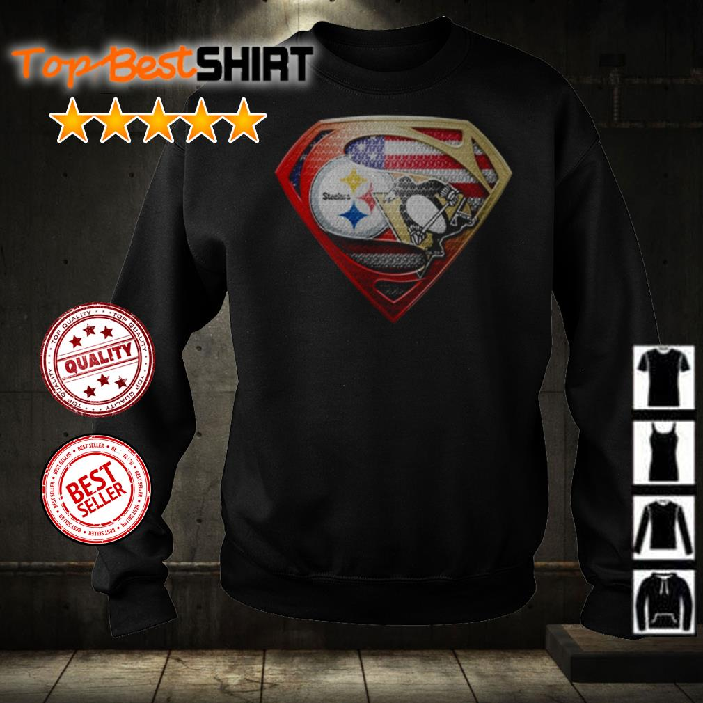 Superman Pittsburgh Steelers vs Pittsburgh Penguins shirt
