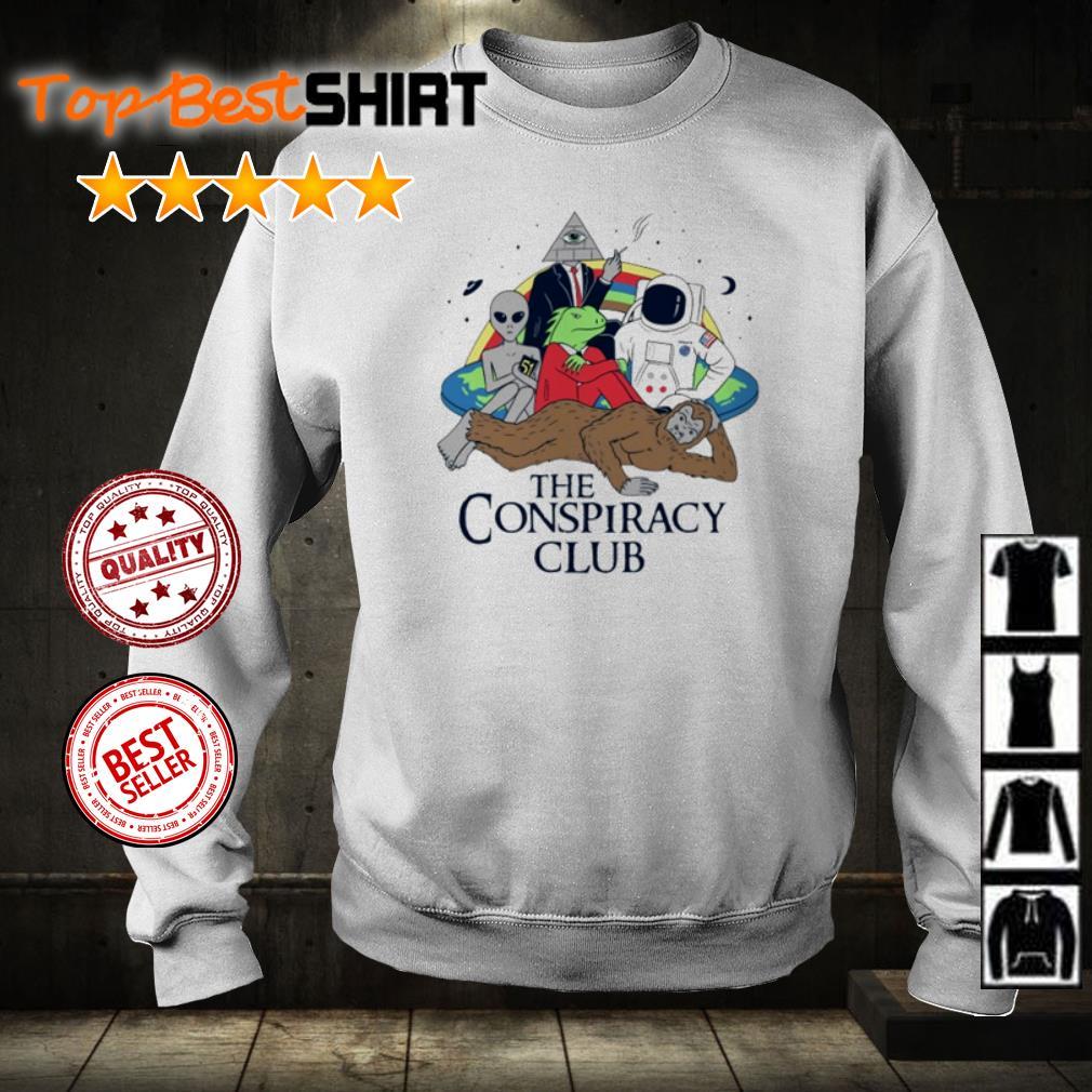 Alien bigfoot astronaut The Conspiracy club shirt