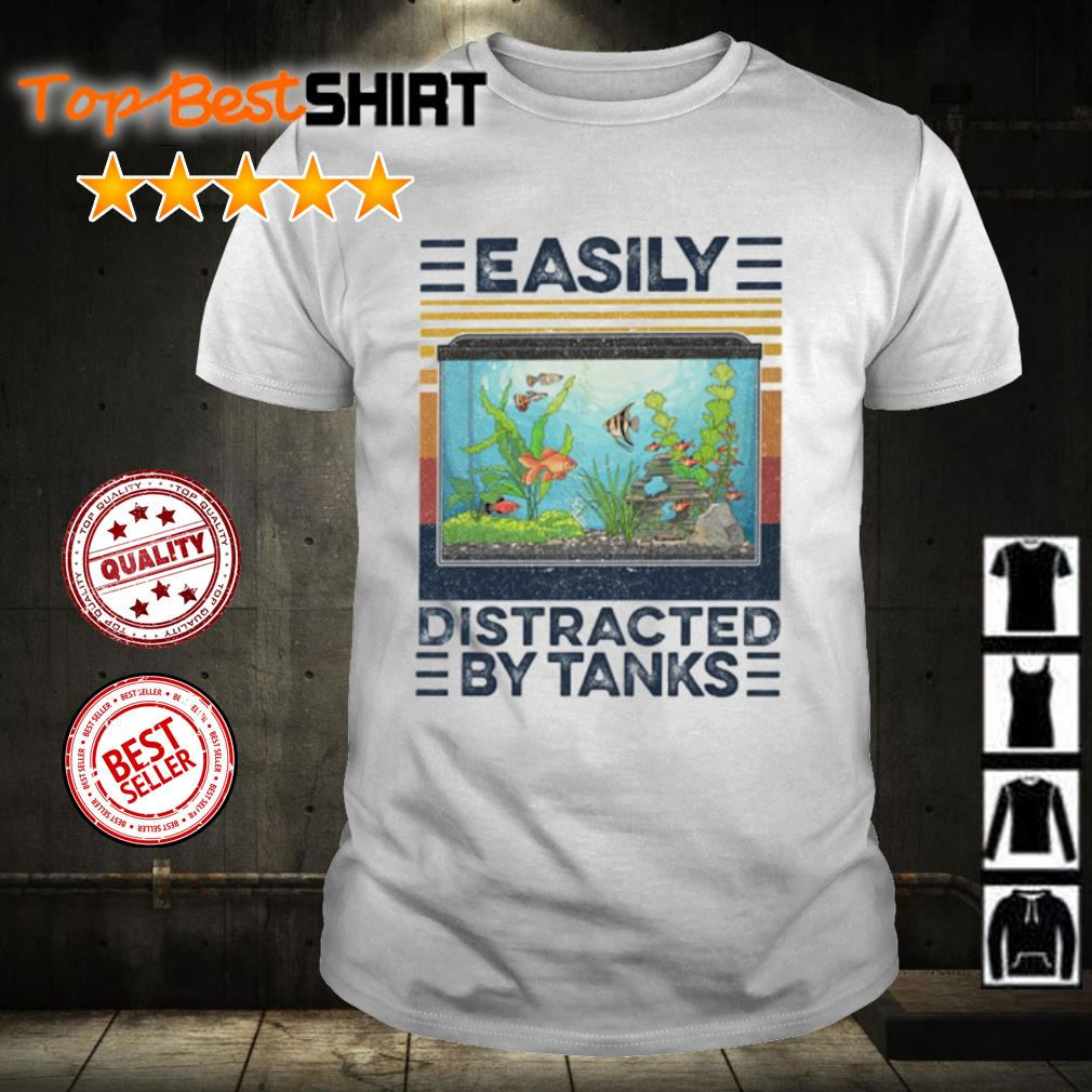 Aquarium Easily distracted by tanks vintage shirt