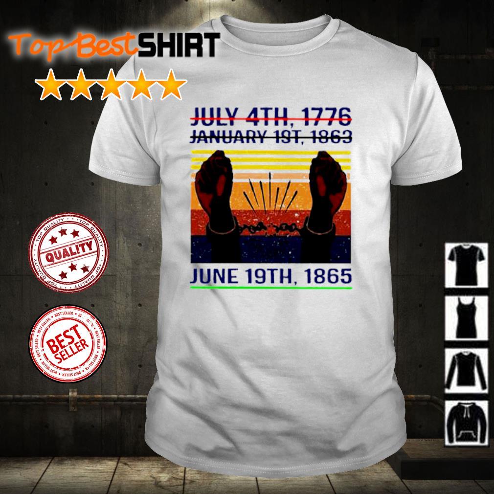 June 19th 1865 Juneteenth Vintage shirt