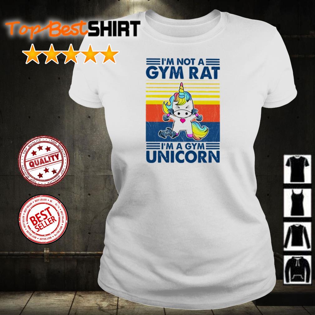 I'm not a gym rat I'm a gym unicorn shirt