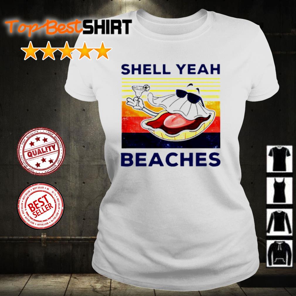 Shell yeah beaches vintage s ladies-tee