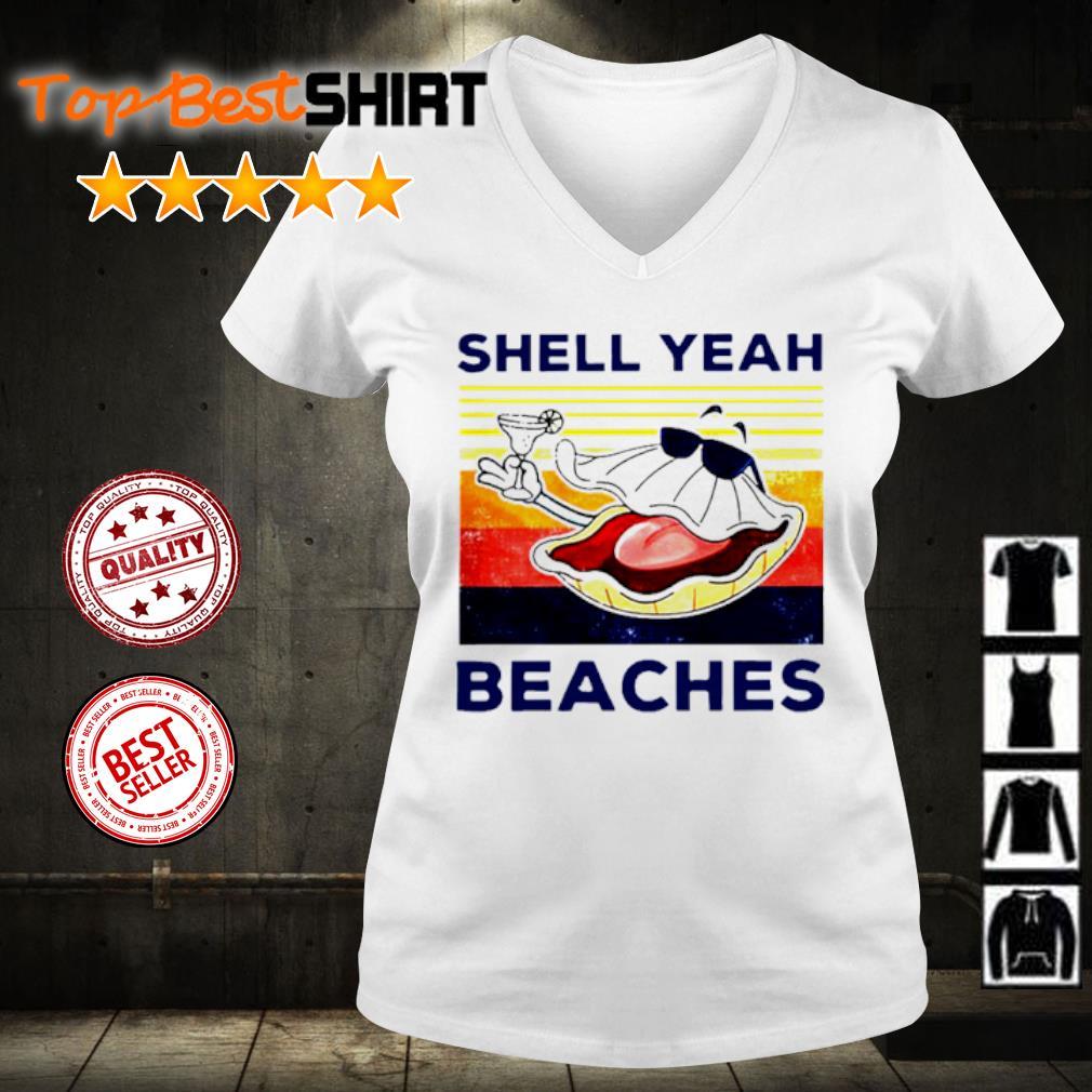 Shell yeah beaches vintage s v-neck-t-shirt