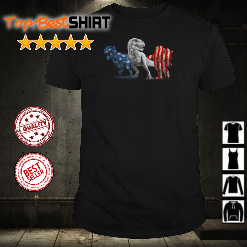 Dinosaur T Rex American Flag shirt