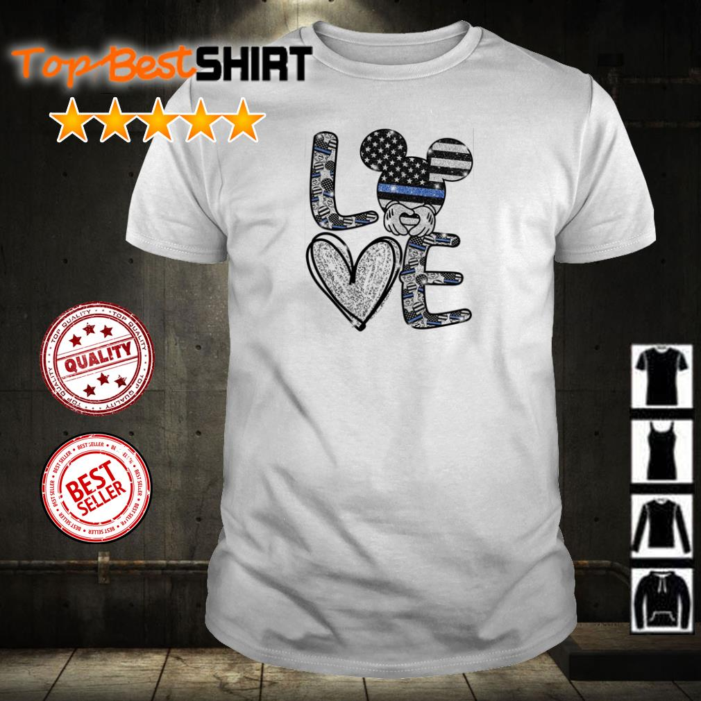 Mickey Mouse American Flag Love shirt
