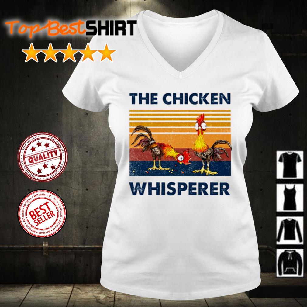 The chicken whisperer vintage s v-neck-t-shirt